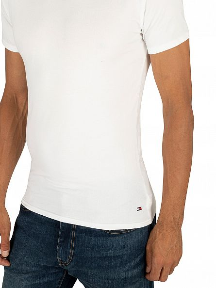 Tommy Hilfiger White 3 Pack Premium Essentials T-Shirts