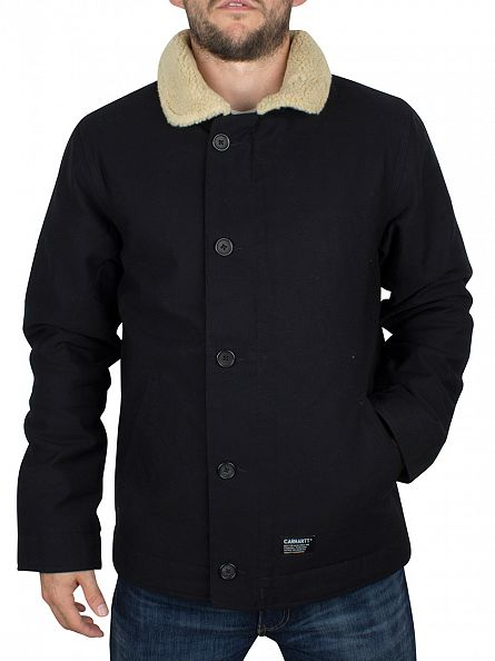 Carhartt WIP Black Sheffield Fur Trim Jacket