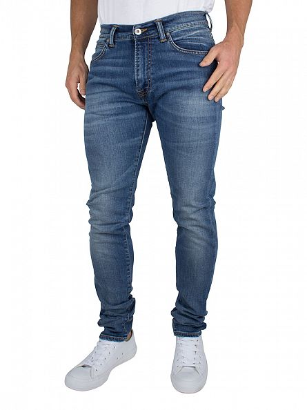 Edwin Deep Blue Denim ED-80 Drop Crotch Slim Fit Jeans