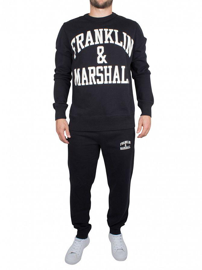 Franklin & Marshall Black Arch Logo Sweatshirt Tracksuit