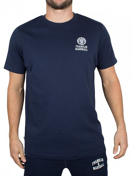 Franklin & Marshall Navy Chest Logo T-Shirt