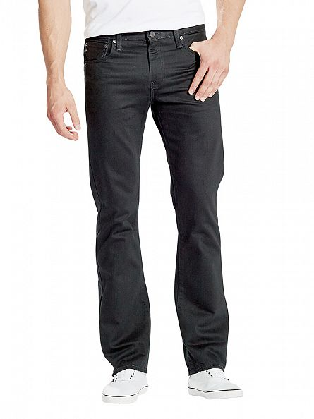 Levi's Black 527 Slim Boot Cut Original Rinse Jeans