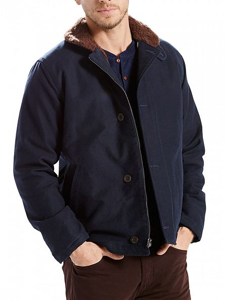 Levi's Blue Deck Fur Trim Nightwatch Jacket
