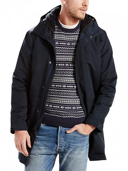 Levi's Blue Thermore 2N1 Field Nightwatch Parka Jacket