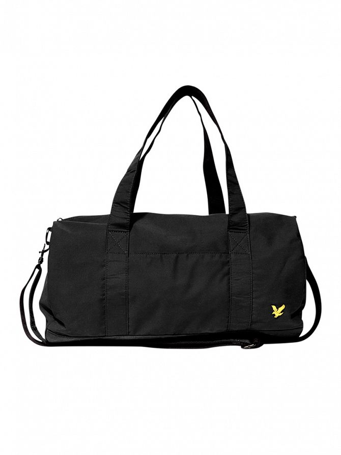Lyle & Scott True Black Logo Barrel Bag