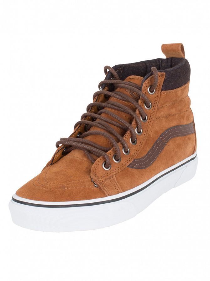 Vans Glazed Ginger/Plaid Sk8-Hi MTE Trainers