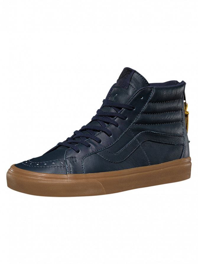 Vans Navy/Gum Sk8-Hi Reissie Zip Hiking Trainers