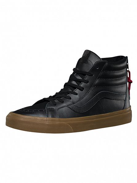 Vans Black/Gum Sk8-Hi Reissie Zip Hiking Trainers