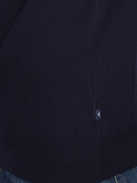 J Lindeberg Navy Sargon True Merino Turtle Neck Knit