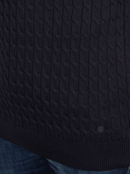 Minimum Dark Navy Jovan Cable Knit