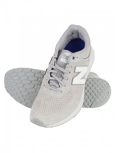 New Balance Light Grey 574 TDS Trainers