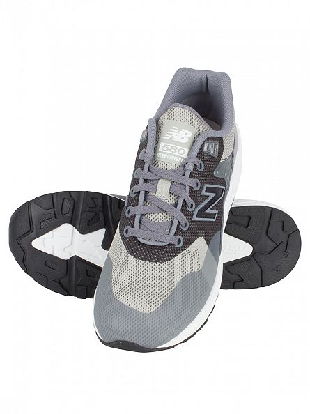 New Balance Grey 580 Jaquard Trainers