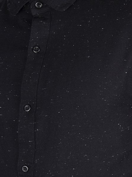 Only & Sons Black Slim Fit Sejr Flecked Shirt