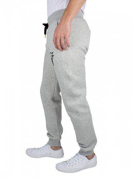 Sik Silk Grey Marl Standard Logo Joggers