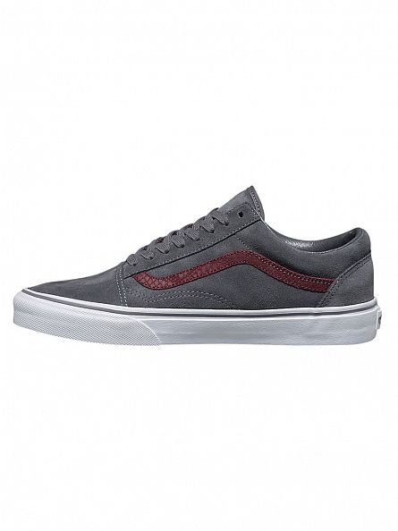 Vans Gray/Port Royal Old Skool Reptile Trainers