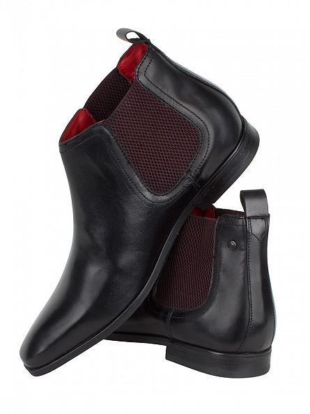 Base London Waxy Black William Boots