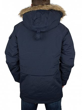 Carhartt WIP Navy/Black Anchorage Parka Logo Jacket