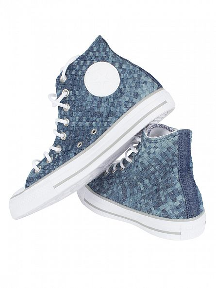 Converse Polar Blue/White/Dolphin CTAS Weave Hi Trainers
