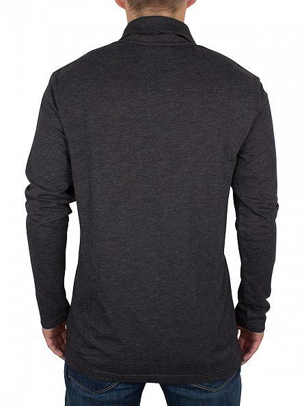 G-Star Dark Black Longsleeved Gilik Logo Polo Shirt