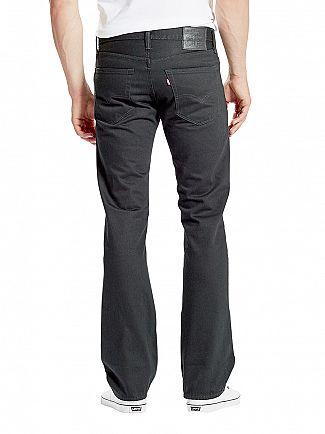 Levi's Black 527 Slim Boot Cut Original Rinse Jeans