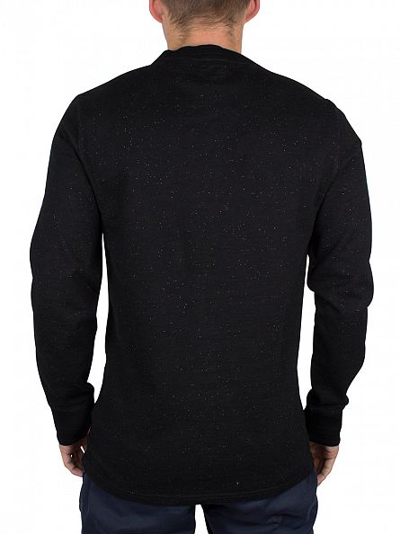 Levi's Black Longsleeved Flecked Henley 2 Saturated Sulphur T-Shirt