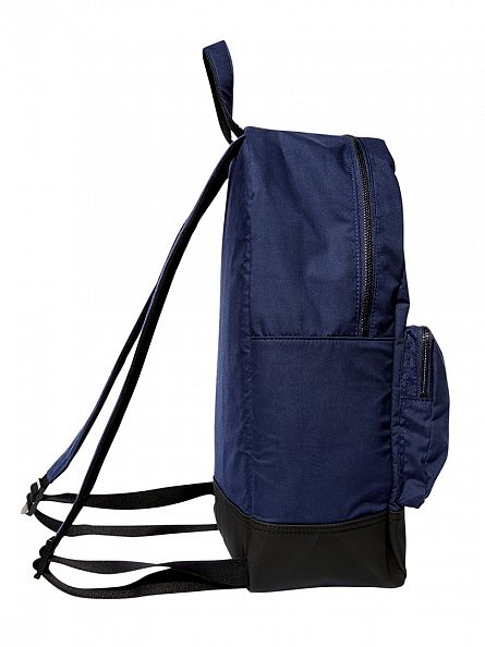 Lyle & Scott Navy 2 Pocket Logo Rucksack