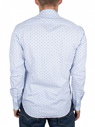 Scotch & Soda Blue Spotted Pattern Shirt