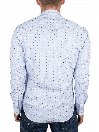 Scotch & Soda Blue Spotted Pattern Shirt