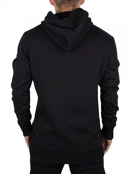 Sik Silk Black Overhead Logo Hoodie