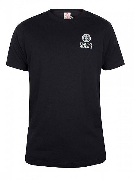 Franklin & Marshall Black Chest Logo T-Shirt