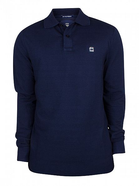 G-Star Dark Aged Longsleeved Core Logo Polo Shirt