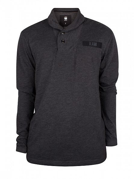 G-Star Dark Black Longsleeved Gilik Logo Polo Shirt