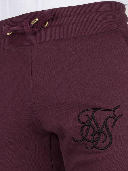 Sik Silk Burgundy Standard Logo Joggers