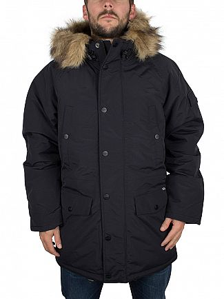 Carhartt WIP Black/Black Anchorage Parka Logo Jacket
