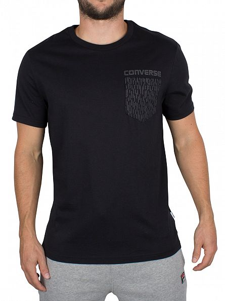 Converse Black Reflective Rain Pocket T-Shirt