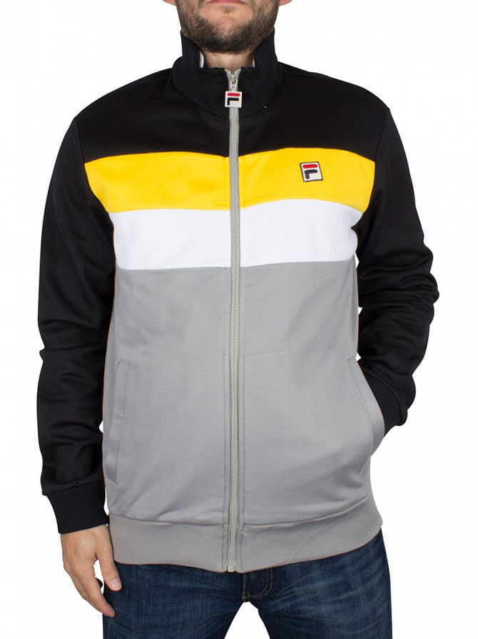 Fila Vintage Frost Grey Lizzano Panel Logo Track Jacket