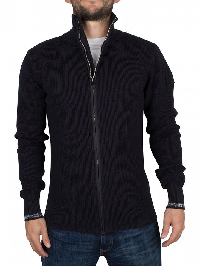 G-Star Black/Trench Blue Dadin Zip Knit