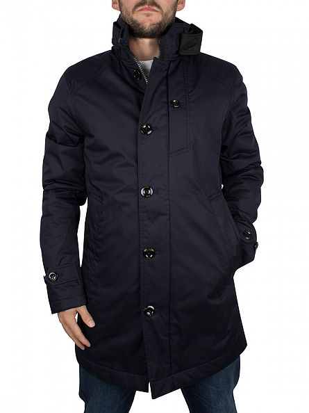 G-Star Mazarine Blue/Back Garber Trench Jacket
