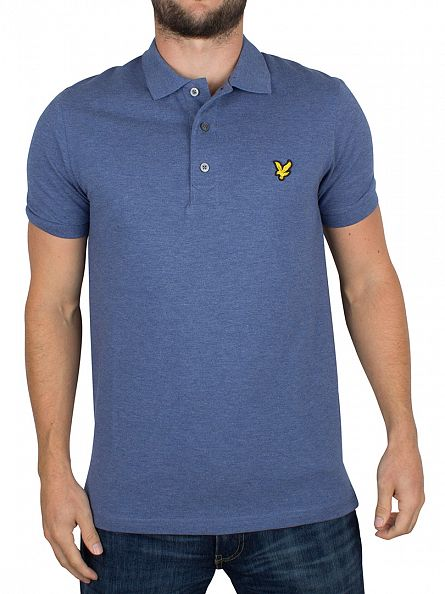 Lyle & Scott Indigo Marl Logo Polo Shirt