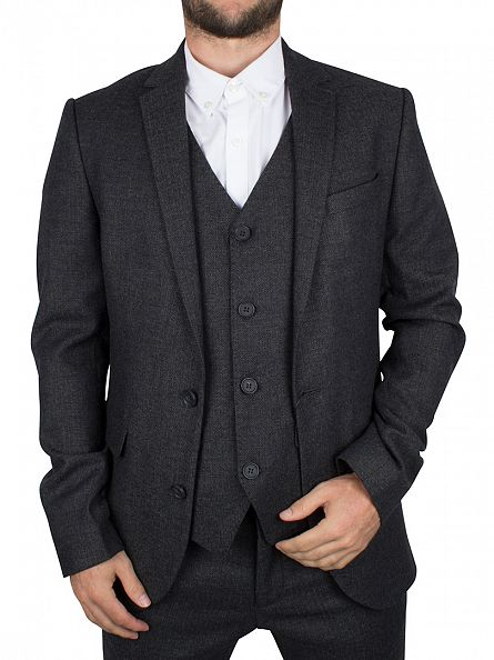 Minimum Dark Grey Melange Hunts Blazer
