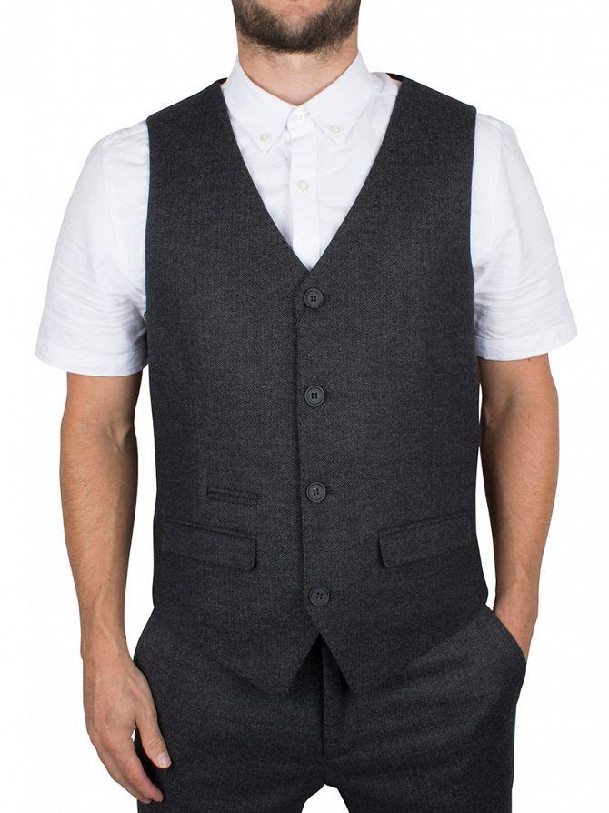 Minimum Dark Grey Melange Tomkins Waistcoat
