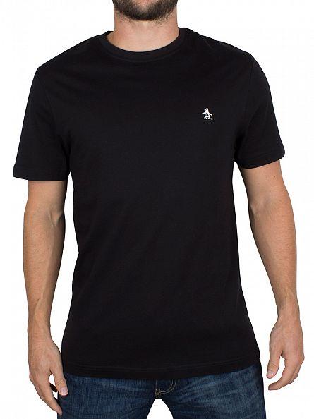 Original Penguin True Black Pin Point Embroidery Logo T-Shirt