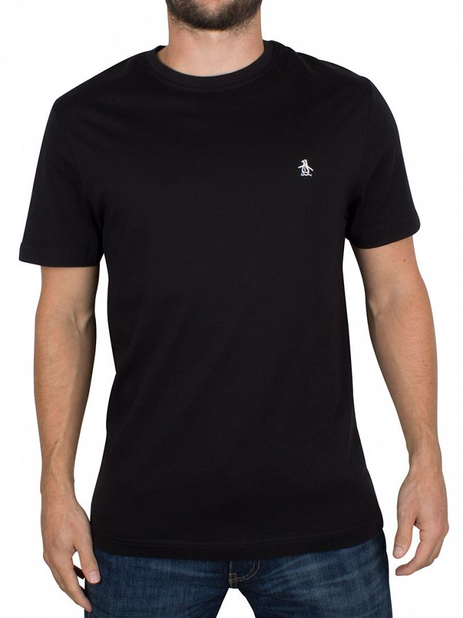 Original Penguin True Black Pin Point Embroidery Logo T-Shirt