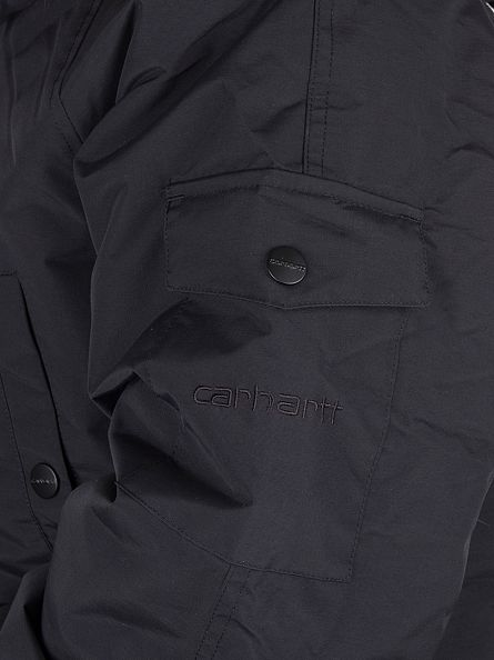 Carhartt WIP Black/Black Anchorage Parka Logo Jacket