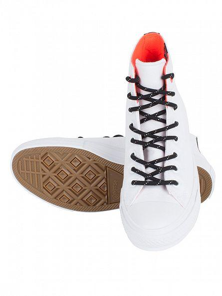 Converse White/Lava Chuck II HI Trainers
