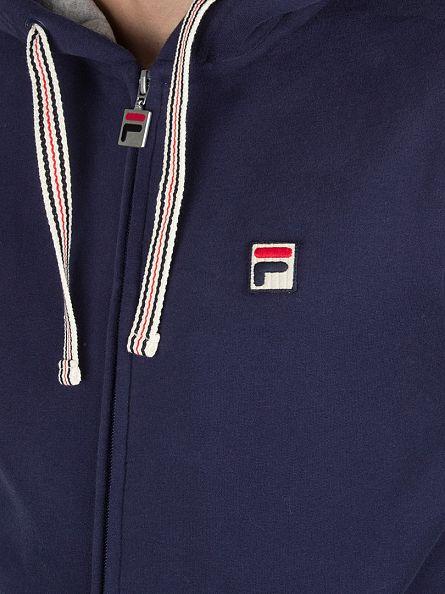 Fila Vintage Peacoat Bagnoli Logo Zip Hoodie