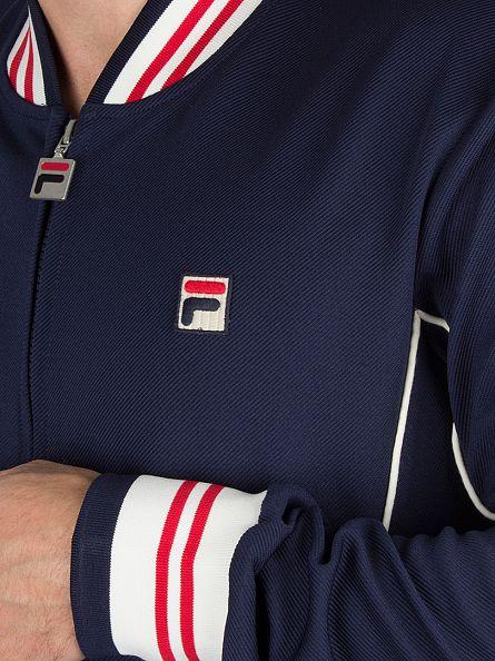 Fila Vintage Peacoat Baranci Logo Zip Track Jacket