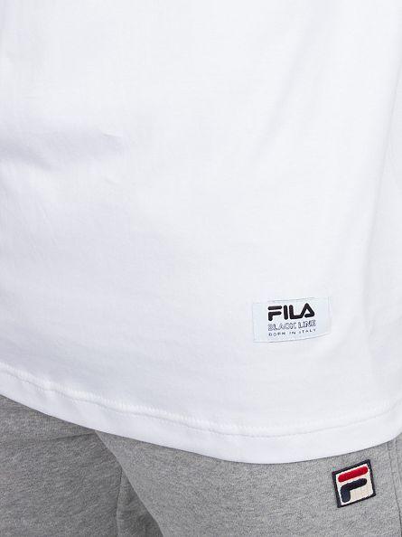 Fila Vintage White Vialli Interlock Graphic T-Shirt