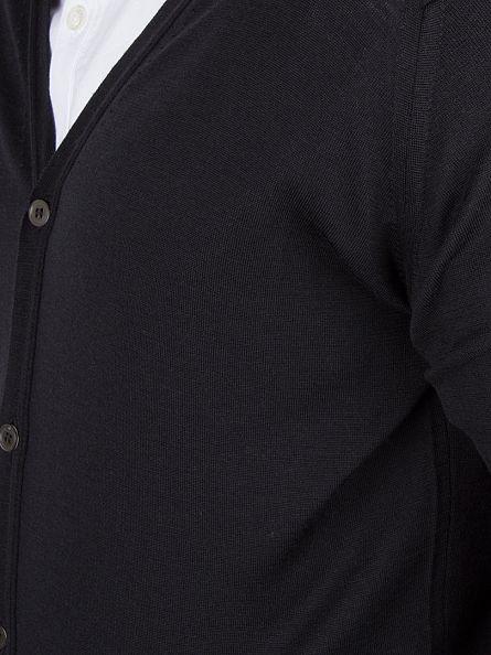John Smedley Black Bryn Cardigan Knit