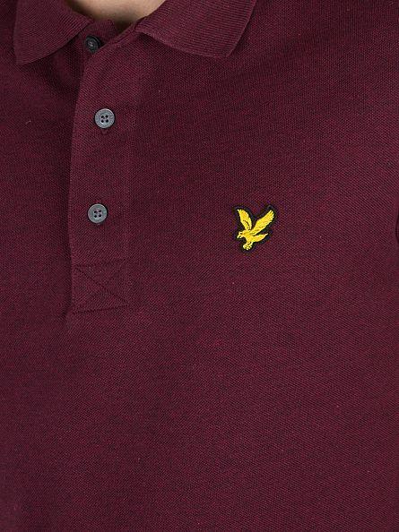 Lyle & Scott Claret Marl Logo Polo Shirt